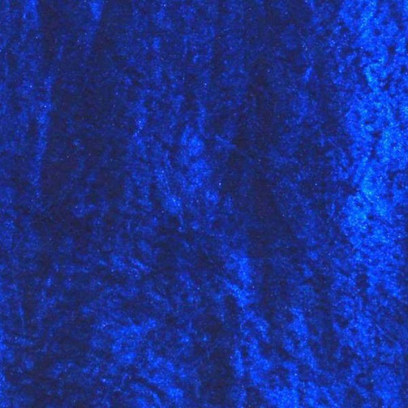 Panne de velours Bleu Electrique