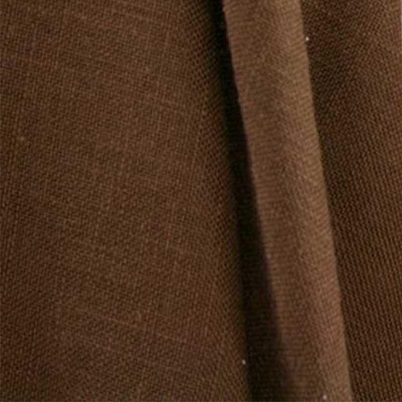 Tissu Aspect Lin Marron Chocolat 56