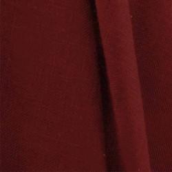 Tissu Aspect Lin Rouge Bordeaux 66
