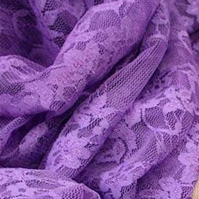 Tissu dentelle extensible Violet