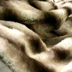 Tissu Fausse Fourrure (synthétique) poils longs Husky