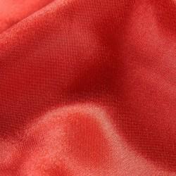 Tissu satin polyester Rouge