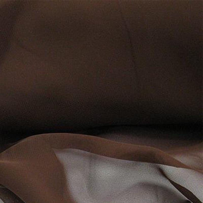 Mousseline unie Marron Chocolat