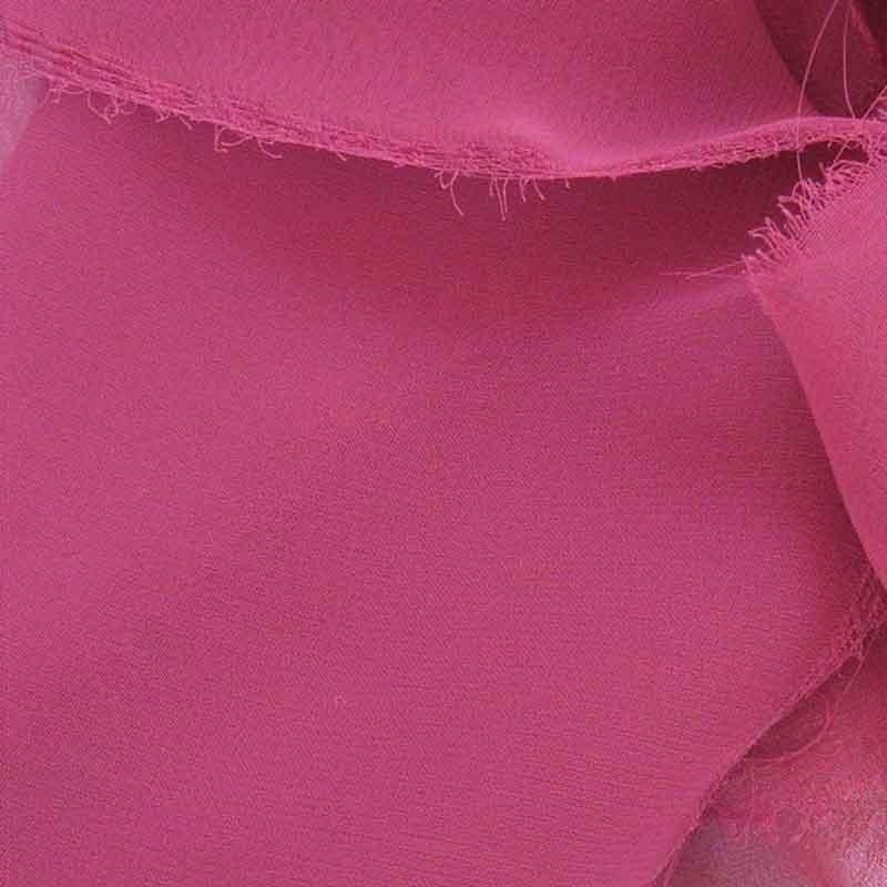 Tissu Mousseline unie Fuchsia