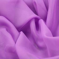 Tissu Mousseline unie Violet Lilas