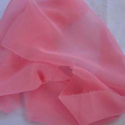Tissu Mousseline unie Rose Pâle, Clair