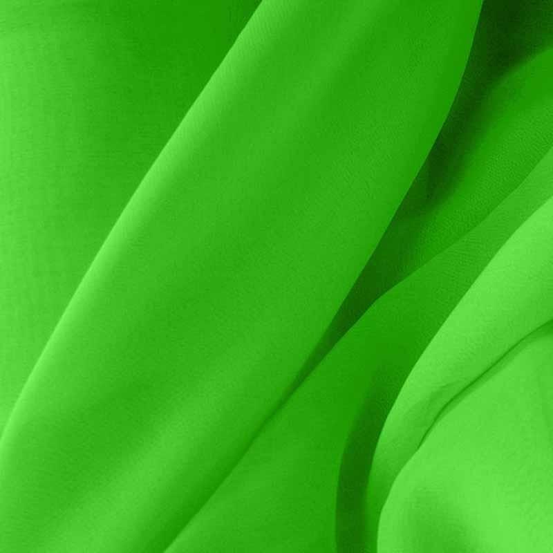 Tissu Mousseline unie Vert Prairie