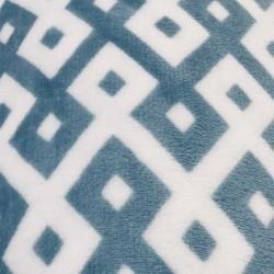 Doudou géométrique carres bleu et blanc