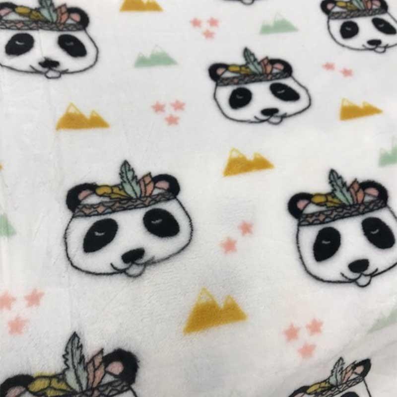 Doudou Panda Indien Montagne et Etoiles