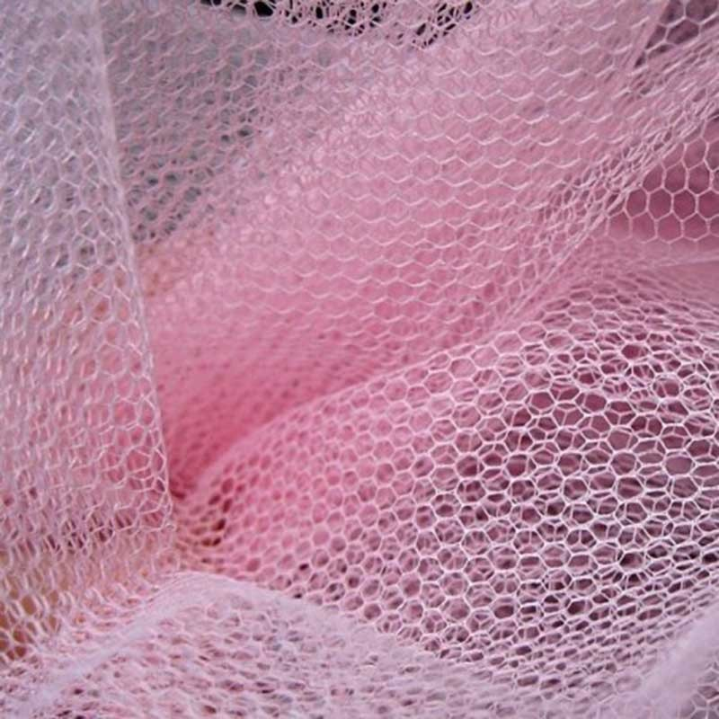 Tulle rouleau 40m - Rose