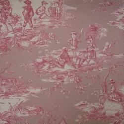Toile de Jouy Histoire D'eau Rose