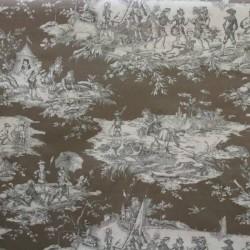 Toile de Jouy Histoire D'eau Taupe