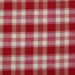Tissu Imprimé Montagne Morzine rouge