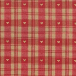 Tissu Imprimé Montagne Coeur du Cervin rouge