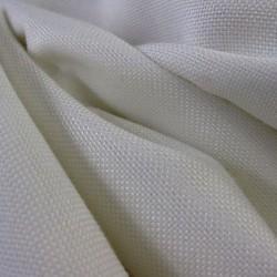 Tissus Ignifugé Double Natte Blanc