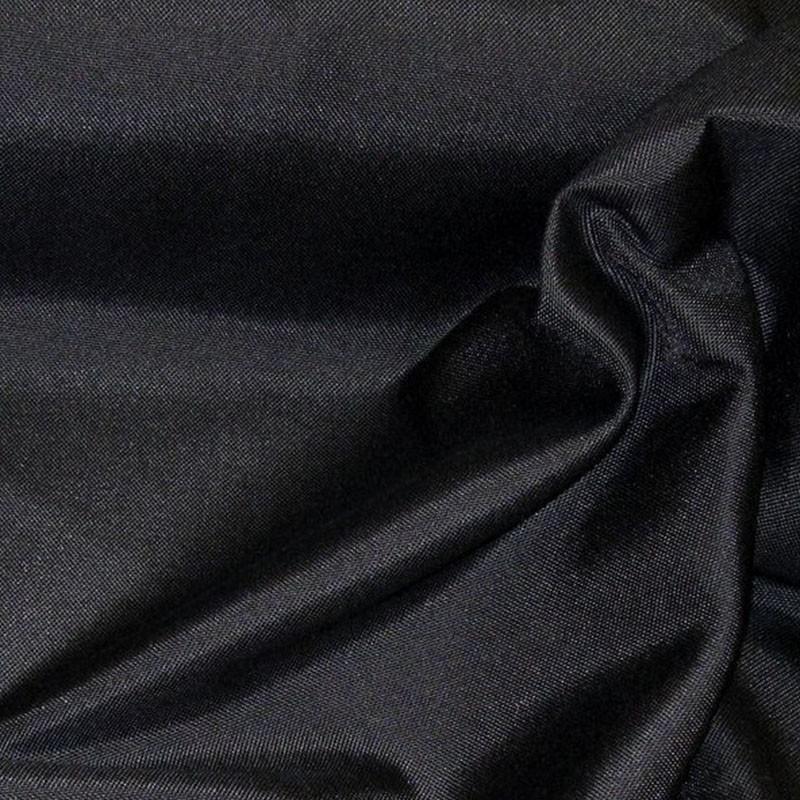 Tissus Ignifugé Double Natte Noir