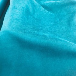 Suédine Souple Bleu Canard