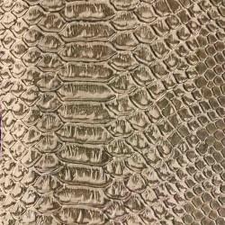 Tissus Simili Cuir Komodo Beige Crotale
