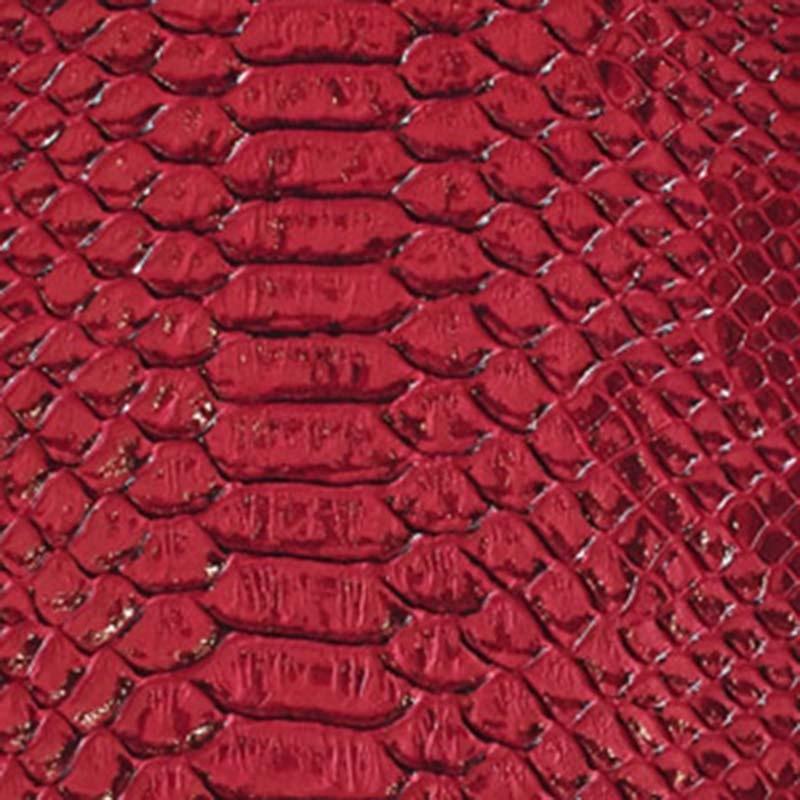 Tissus Simili Cuir Komodo Rouge