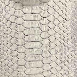 Tissus Simili Cuir Komodo Blanc