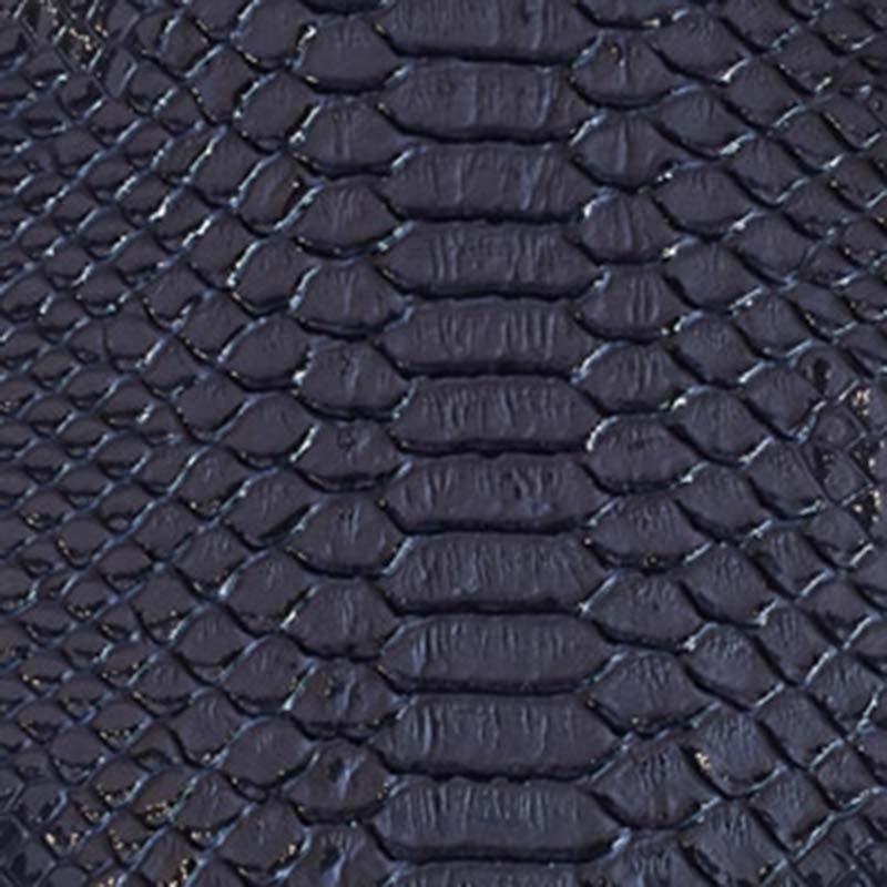 Tissus Simili Cuir Komodo Bleu Marine Nuit