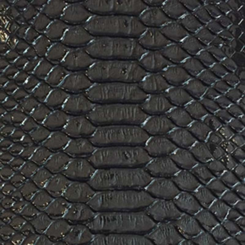 Tissus Simili Cuir Komodo Noir