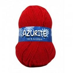 Fil à tricoter Laine Azurite  Rouge 1300-0156