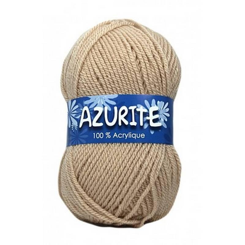 Fil à tricoter Laine Azurite Beige Clair 1300-3057