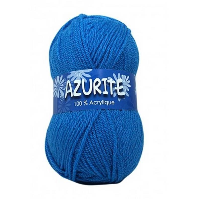 Fil à tricoter Laine Azurite Bleu Azur 1300-3040