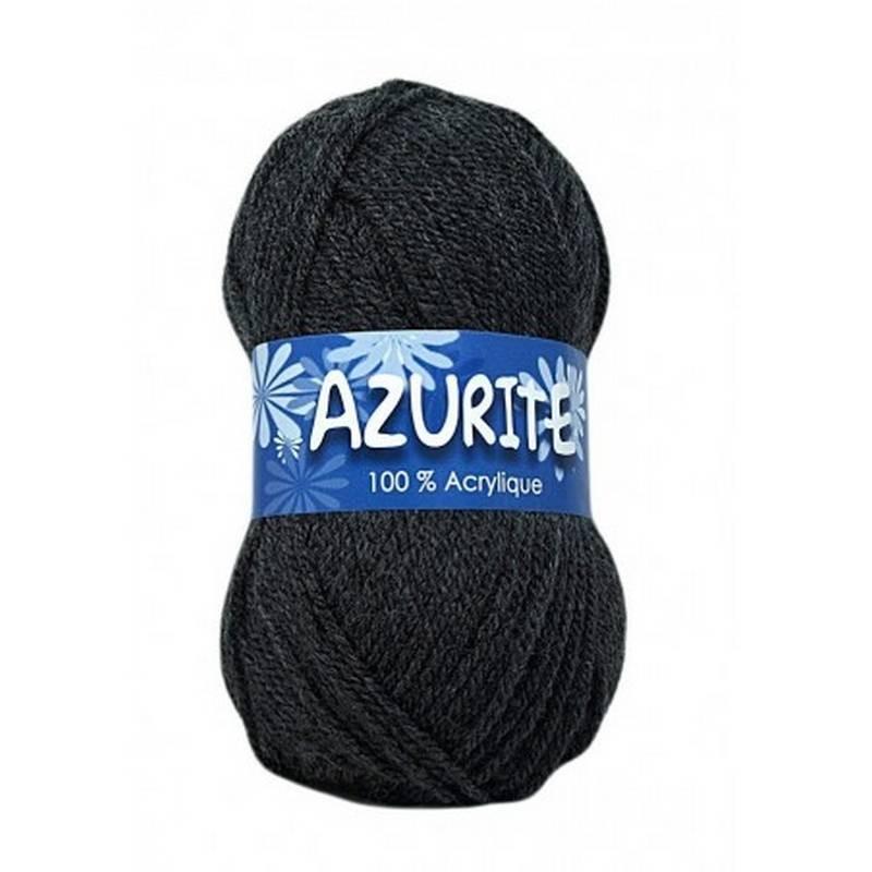 Fil à tricoter Laine Azurite Gris Foncé 1300-3077