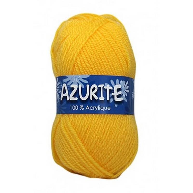 Fil à tricoter Laine Azurite Jaune Soleil 1300-3006