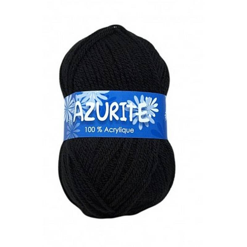 Fil à tricoter Laine Azurite Noir 1300-0585