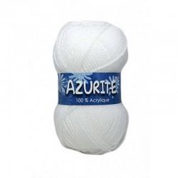 Fil à tricoter Laine Azurite Blanc 1300-0501