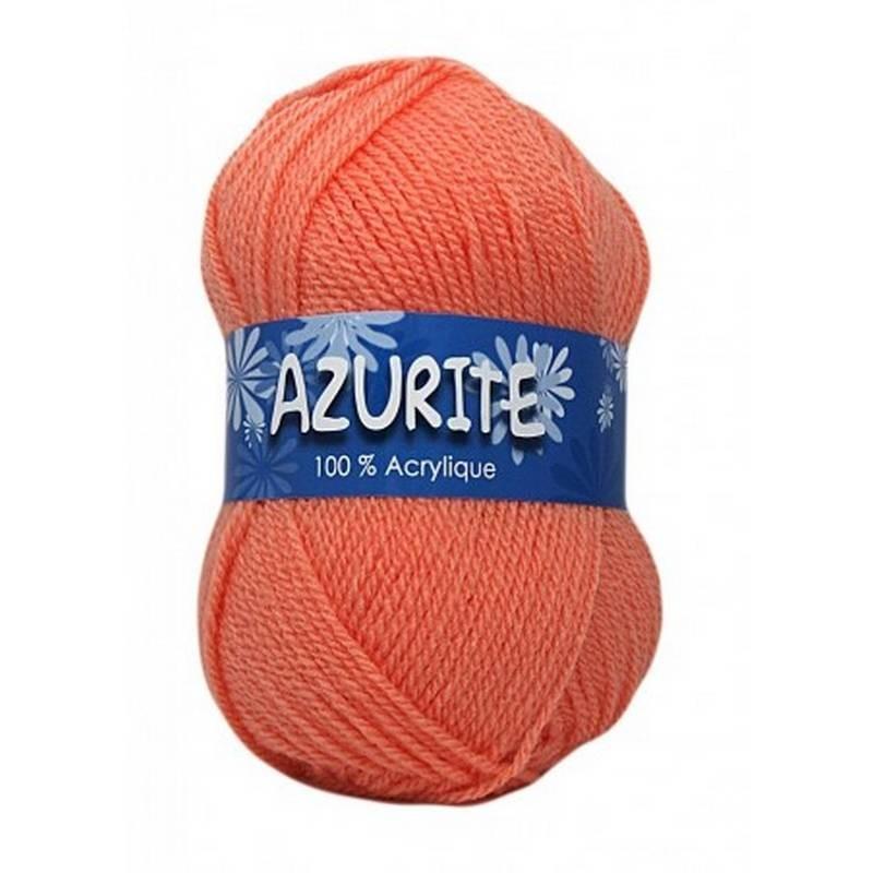 Fil à tricoter Laine Azurite Pêche 1300-3009