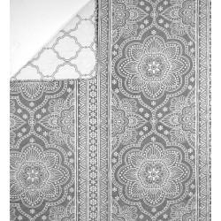 Plaid Mandala Gris 150x150 cm
