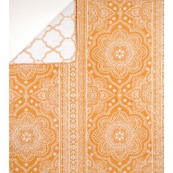 Plaid Mandala Jaune 150x150 cm