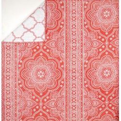Plaid Mandala Rouge 150x150 cm