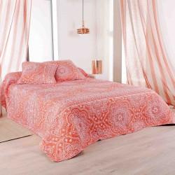 couvre lit 180x240 mandala rouge pour dessus de lits canap s. Black Bedroom Furniture Sets. Home Design Ideas