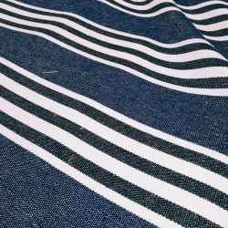 Toile de coton LUZ Bleu Jean Marine Denim