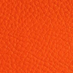 Tissu Simili Cuir Orange Effet Grainé.