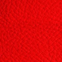 Tissu Simili Cuir Rouge Effet Grainé.