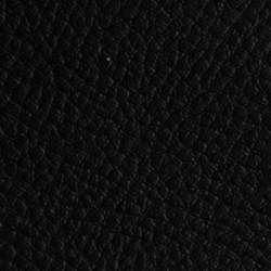Tissu Simili Cuir Noir Effet Grainé.
