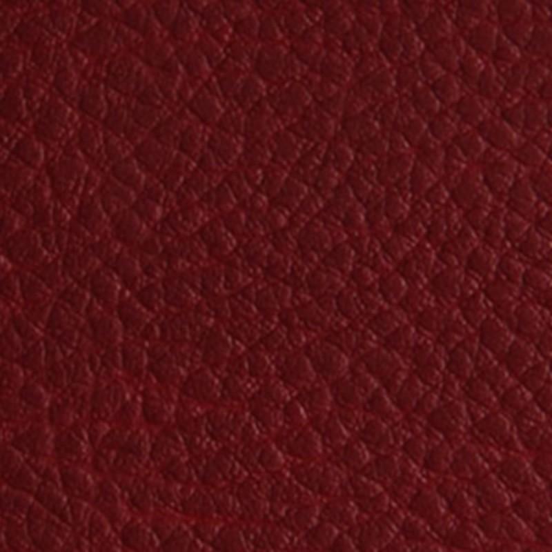 Tissu Simili Cuir rouge Bordeaux Effet Grainé.