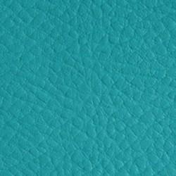 Tissu Simili Cuir Bleu Turquoise Effet Grainé.
