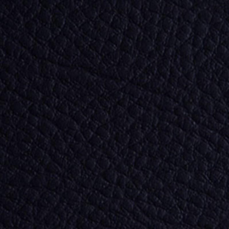 Tissu Simili Cuir Bleu Marine Effet Grainé.