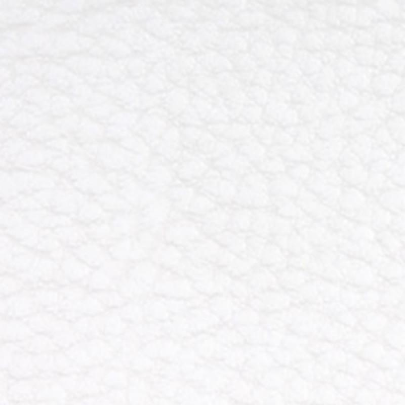 Tissu Simili Cuir Blanc Effet Grainé.