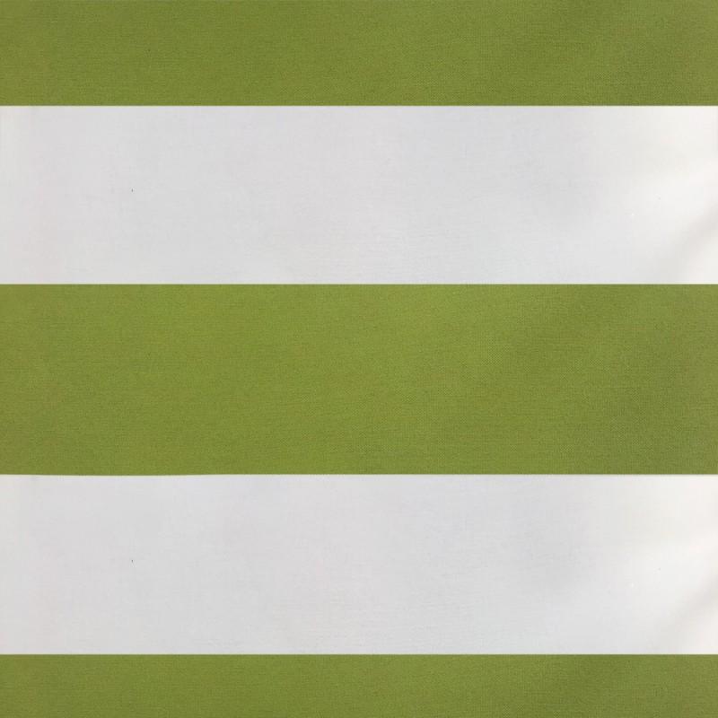 Toile De Bâche Rayée Verte