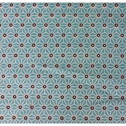 Coton Imprimé Saki Turquoise