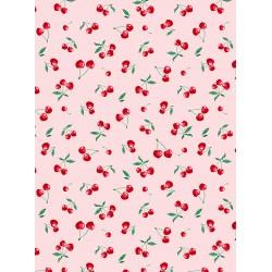 Coton Imprimé Cerise Rose