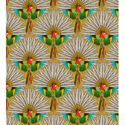 Coton Imprimé Perroquet Jaune